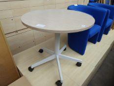 80cm diameter mobile meeting table