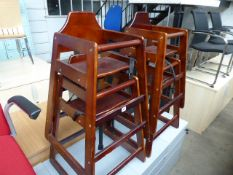 4 wooden high chairs