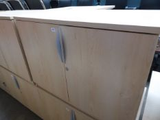 Maple effect 2 door stationery cabinet 100cm wide