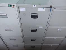 47cm grey 4 drawer filing cabinet