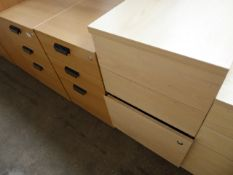 3 assorted 3 drawer pedestals
