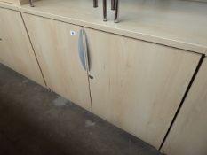 Maple effect 2 door stationery, 100cm wide
