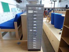 Matthews Furniture grey multi drawer cabinet, 20cm wide