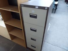 Silverline coffee and cream 4 drawer filing cabinet, 46cm wide