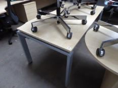 160cm maple effect workstation