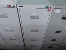 1 Silverline 46cm grey 4 drawer filing cabinets