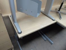 2 maple small workstations, 80cm wide