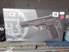 Boxed CZ75 airsoft pistol