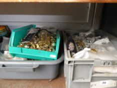 Three trays of reproduction cap badges