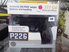 Boxed P226 C02 .177 pellet air pistol