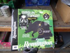 Boxed Remington airgun target