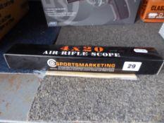 Boxed 4x20 air rifle scope