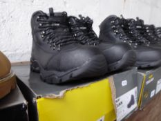 Boxed pair of Trojan safety boots, size 11