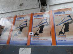 Four boxed Milbro Deluxe slingshots