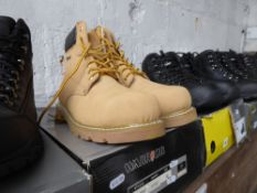 Boxed pair of Warrior safety boots, size 13