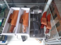 Steel-of-Fire Survival knife and four other knives