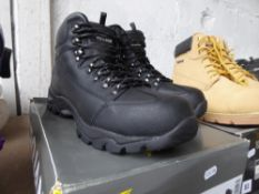 Boxed pair of Trojan safety boots, size 9