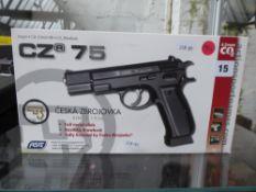 Boxed CZ 75 C02 .177 metal BB air pistol