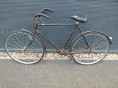 Vintage shopper bike in black
