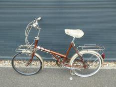 Shopper 20 step through bike in brown