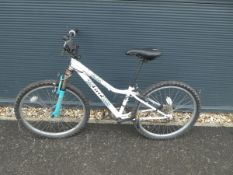 Childs BMX bike in white and leopard print
