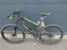 Lombardo green electric mountain bike with charger
