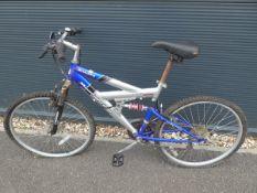 Azona mountain bike in silver and blue