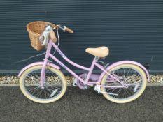Childs bike in pink