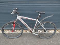 Trecker Falcon mountain bike in silver