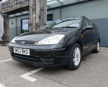 OW53 BKO 2003 Ford Focus 1.8 TD-Di, 5 door estate in black, 1753cc diesel, 2 keys, service print