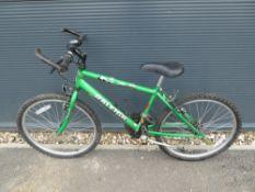 Green Raleigh childs mountain bike
