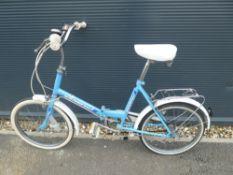 Universal blue foldup bike