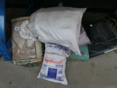 Hydro salt tablets, cocoa plant medium and other bags of assorted products
