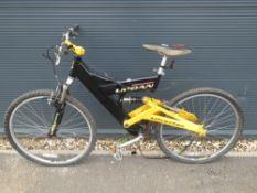 4058 - Silver Fox black and yellow suspension mountain bike