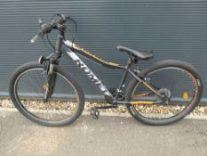 Romet Rambler grey and orange gents mountain bike