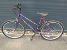 Purple Mont Blanc Falcon girls bike
