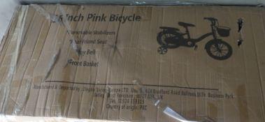 Boxed 16'' pink girls bike