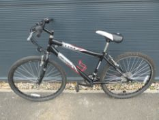 Etna professional black and silver mountain bike