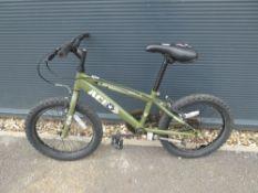 Apollo green army style bike