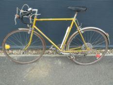 Vintage gold racing cycle