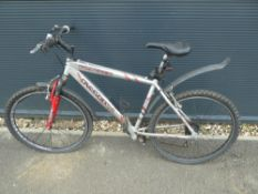 4039 - Silver and red Falcon gents mountain bike