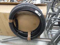 2 bike tyres