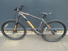 Barracuda grey and orange mountain bike