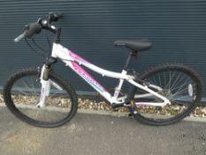 White and pink Adventure girls bike