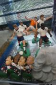 Selection of collectable football figures, other figures etc