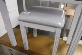Blue painted dressing table stool (B)