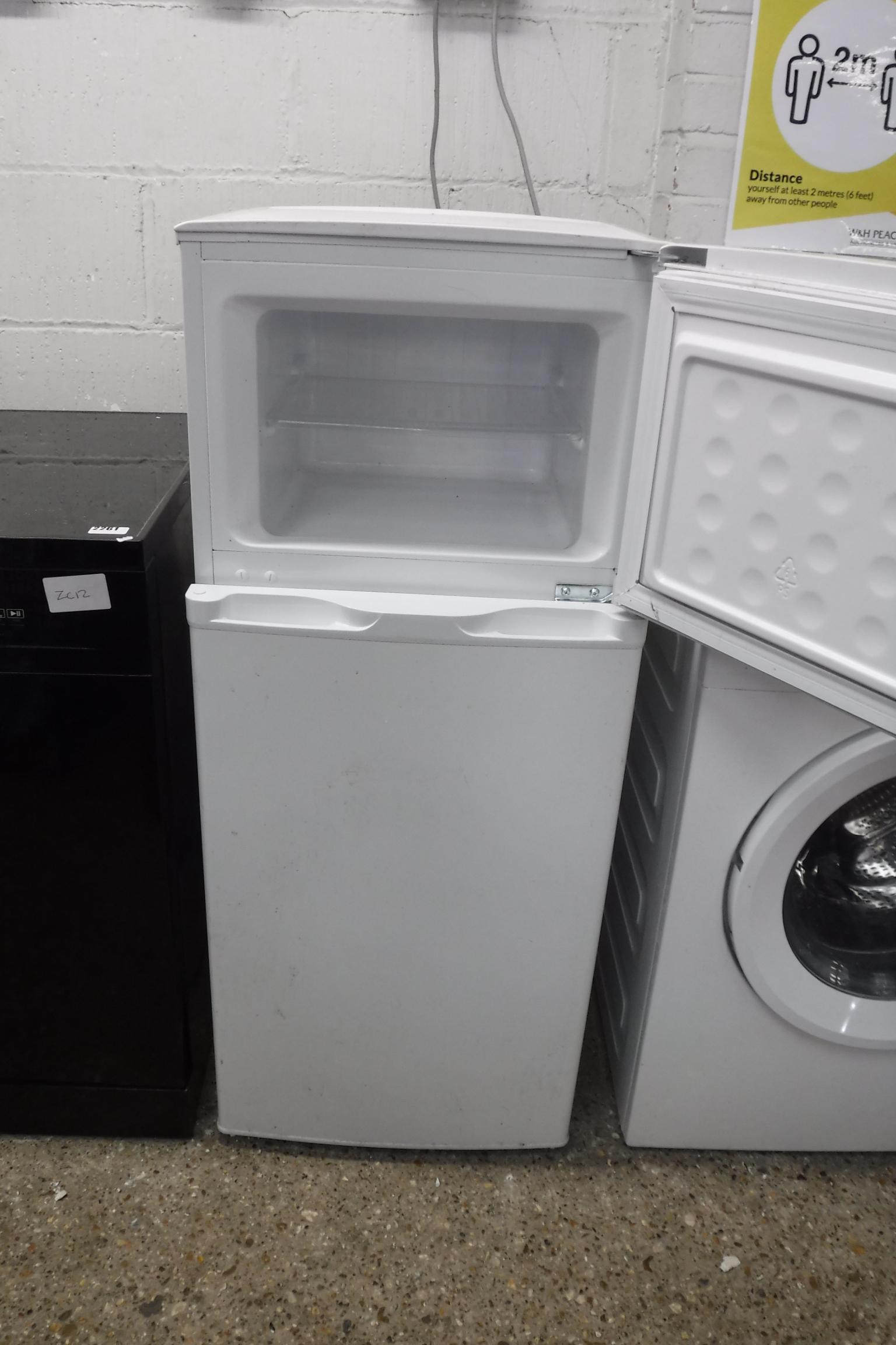 (27) Small white fridge freezer