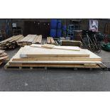 Large pallet of large boards