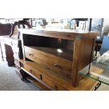 Hard wood single drawer side table