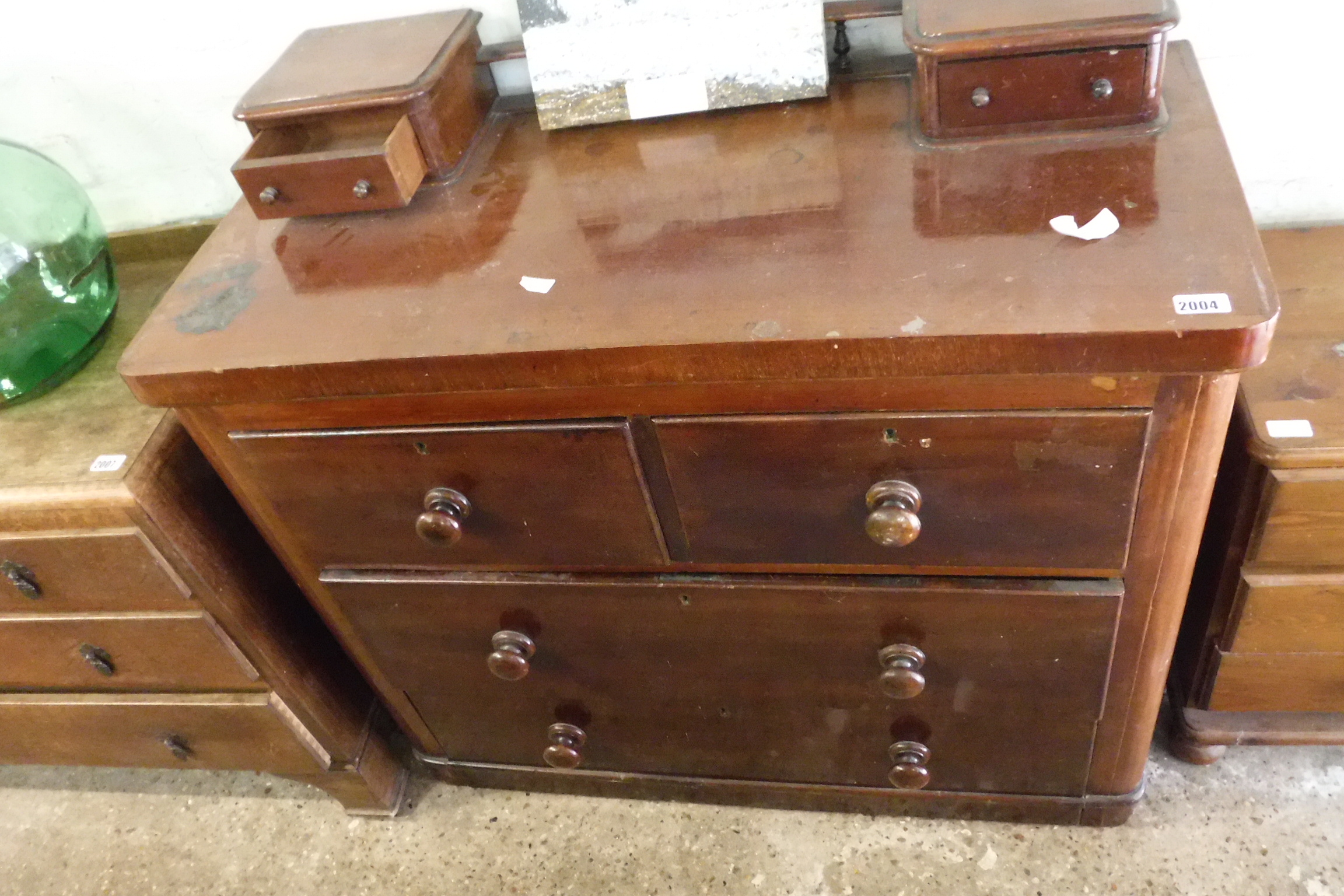 Edwardian mahogany chest of 2 over 2 drawers